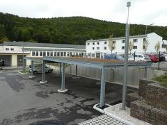 Carport mit Dachbegrünung Stadtwerke Schwarzenberg