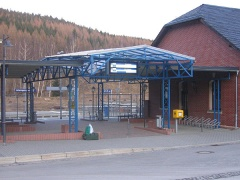 Stahlkonstruktion zur Bahnhofsüberdachung